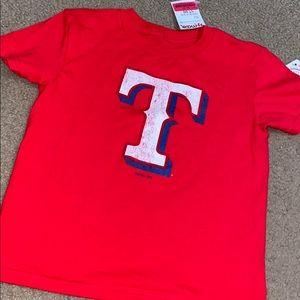 New kids size 5/6 Tx Rangers t shirt red